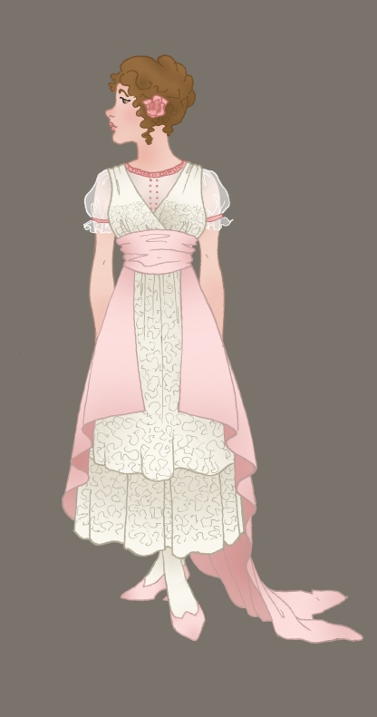 One of George and Genevieve's friends, Edith Moncrief. (Although she'd be offended if you called her anything other than Edie.) Edie is the niece of the twins' guardian, and comes to stay after her parents die.