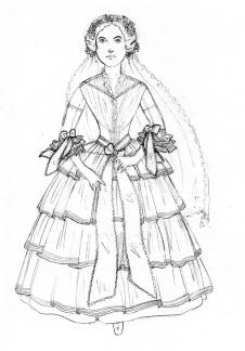 1857 wedding sketch